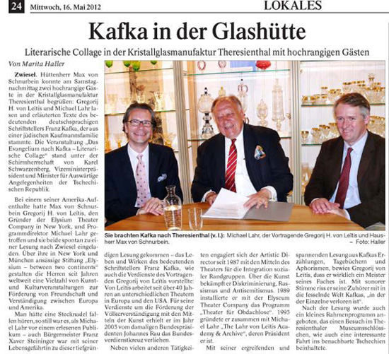 Kafka in der Glashütte